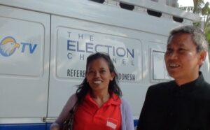 Abdul Rahim Sitorus, Paralegal sekaligus koordinator advokasi PSDBM, saat mendampingi Tukinah mengadukan soal ancaman pencegahan oleh pihak-pihak di Bandara kepada TKI tanpa KTKLN di redaksi Metro TV biro Jogja