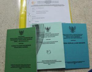 Dokumen-dokumen yang diberikan BP3TKI Yogyakarta atas surat permintaan informasi publik yang diajukan Infest Yogyakarta