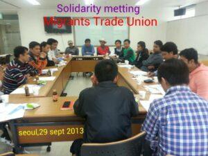 Diskusi rutin tiga bulanan Buruh Migran Indonesia di Korea Selatan yang tergabung dalam Migrant Trade Unuin (MTU)