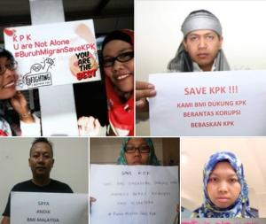 Gerakan Solidaritas BMI Sedunia Dukung KPK