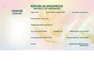 Halaman identitas paspor