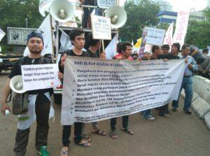 Aksi Jaringan Buruh Migran dalam Rangka Migrant Day