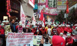 Aksi BMI Hong Kong memperingati Hari Peduli Sampah