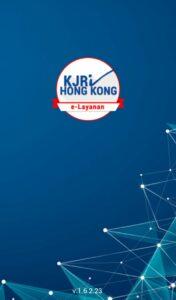 Tampilan Depan E-Layanan KJRI Hong Kong