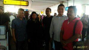 Kedatangan BMI Juariah di Bandara Soekarno Hatta Jakarta