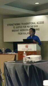 Hariyanto pada pertemuan regional di Kuala Lumpur beberapa waktu yang lalu