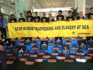 Kampanye Anti Perdagangan Orang bagi ABK Migran oleh SBMI dan Greenpeace