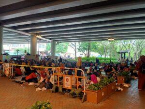 Pekerja Migran Indonesia yang Memanfaatkan Hari Libur Berkumpul di Taman Mei Foo, Minggu 15/9/2019. Sumber Foto : Redaksi Buruh Migran