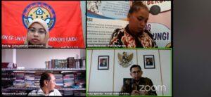 Webinar yang diselenggarakan Infest Yogyakarta, Voice of Migrants dan KJRI Hong Kong