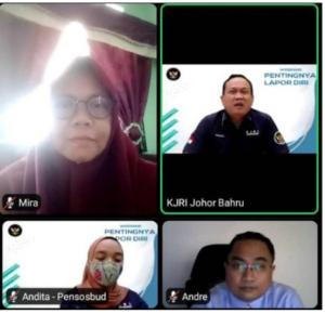 Pertemuan KOMI dan KJRI Johor Bahru